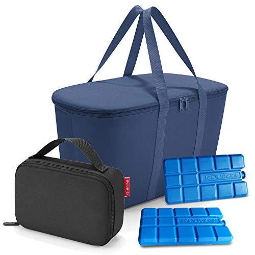 Set aus reisenthel coolerbag, reisenthel thermocase, 2 Kühlakkus, UHOY2C Kühl Set, Navy + Black (40057003)