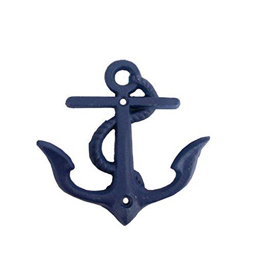 Seaside No.64 Maritime Deko Garderobenhaken Anker Eisen I Wandhaken I Kleiderhaken I (Blau)