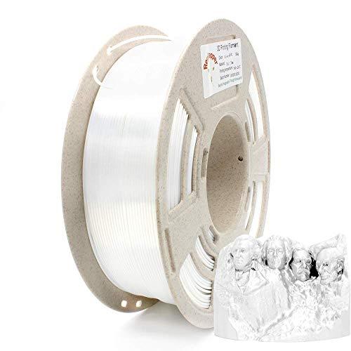 Reprapper Filamento Silk PLA 1.75 (± 0.03 mm) per Stampante 3D, PLA dall'aspetto Setoso Brillante, Bianco