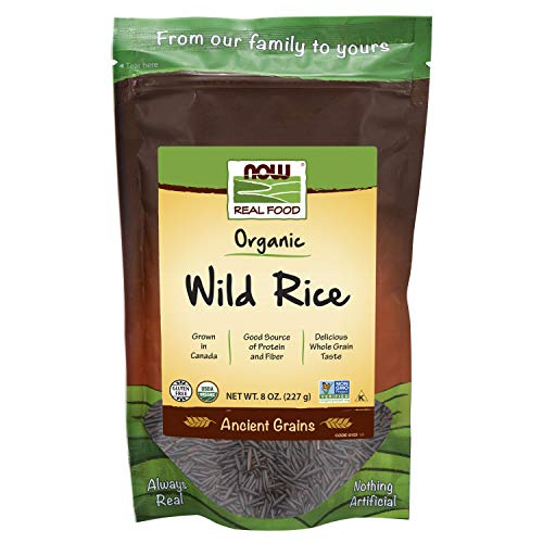 NOW Foods Organic Wild Rice GlutenFree and Certified NonGMO Ancient Grains 8Ounce