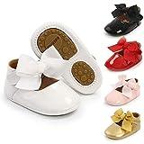Meckior Infant Baby Girls Soft Sole Floral Princess Wedding Dress Mary Jane Flats Prewalker Newborn Light Baby Sneaker Shoes