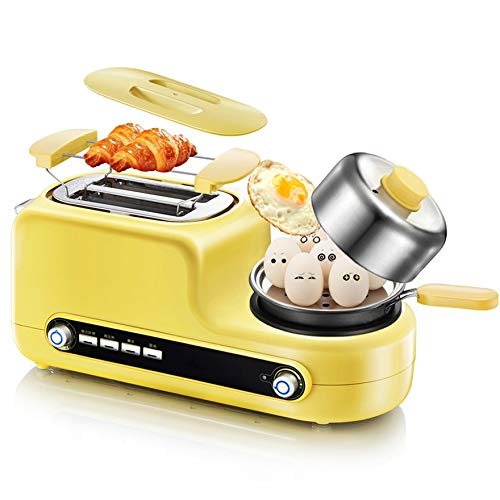 NAFE Máquina de Desayuno eléctrica Multifuncional Sandwichera automática Tostadora de Pan Caldera de Huevo Jamón Carne Parrilla 220V