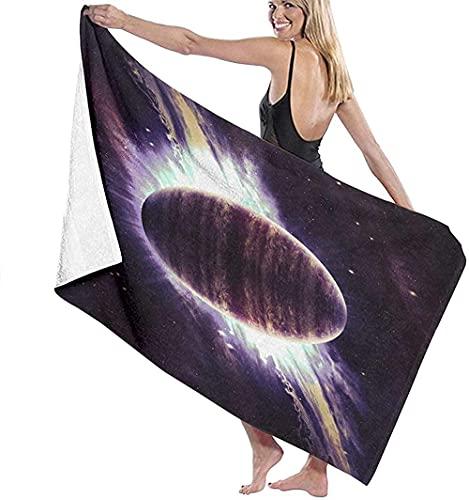 Lewiuzr Toallas De Playa Planeta sobre Las Nebulosas En El Espacio Toalla De Baño De Microfibra Grande 130X80 Cm para Baño Playa Piscina