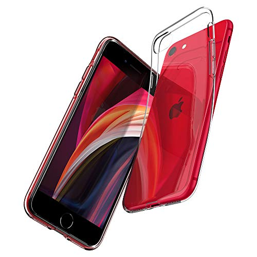 Spigen Liquid Crystal Kompatibel mit iPhone SE 2020 Hülle, iPhone 8/7 Hülle Transparent Silikon Handyhülle Schutzhülle Case Crystal Clear 042CS20435