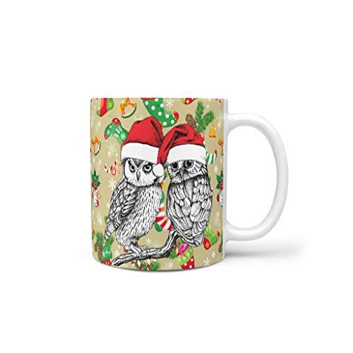 Taza de café Rinvyintte con asa, diseño de animales navideños con asa, un gran regalo para programadores. Regalos para mujeres, mamá, abuela., Blanco, 311,84 g