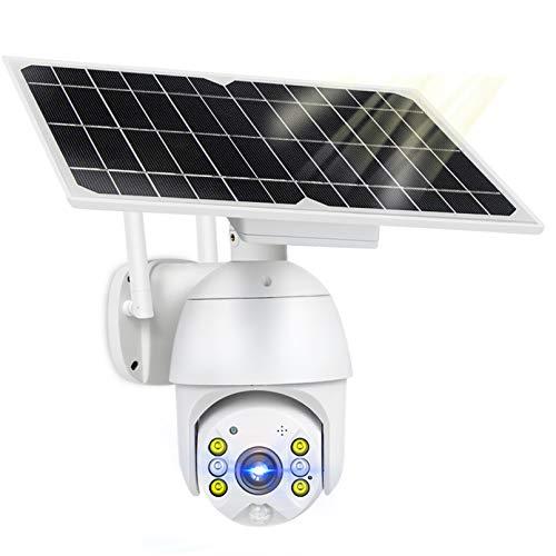 ZJ 4G SIM 1080p HD Panel Solar De HD Vigilancia Al Aire Libre Impermeable WiFi IP Cámara Inteligente Hogar De Dos Vías Voz Intrusión Alarma Monitor De Seguridad(Color:WiFi Version Add 64G)
