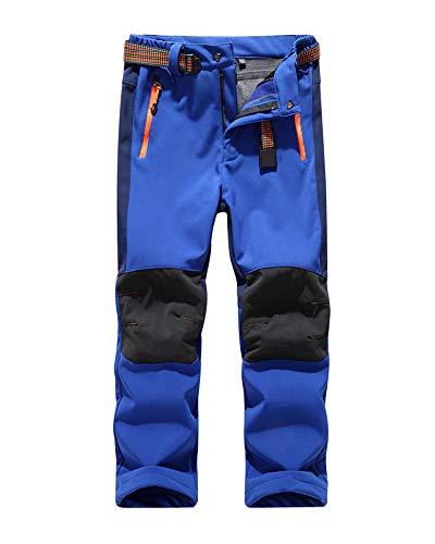 Shaoyao Niño Niña Pantalones De Montaña Pantalones De Escalada Pantalón De Esquí Azul Marino M