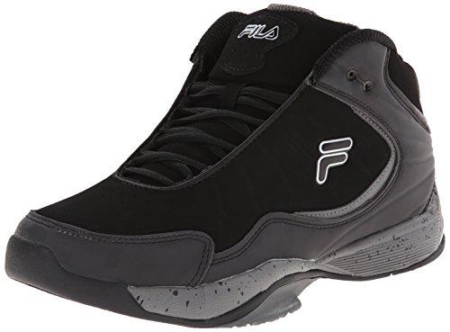 Fila Men's Breakaway 5 Basketball Shoe, Black/Pewter/Metallic Silver, 8 M US