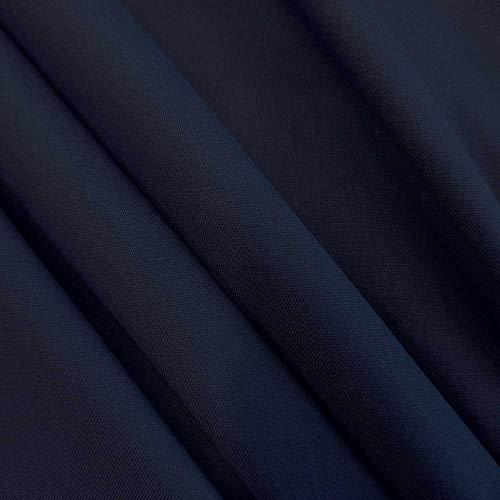 Meterware Stoff Baumwollstoff Fahnentuch Marine Navy dunkelblau 100% Baumwolle blau Neuware