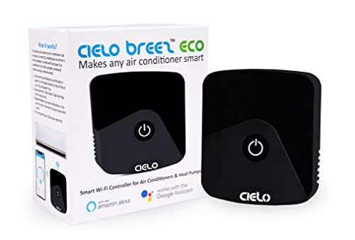 Cielo Breez Eco, Smart Air Conditioner Remote Controller | Smart AC Controller & WiFi Thermometer monitor - Two in One| Amazon Alexa, Google Home, iOS, Android & Web compatible | Makes your A/C Smart