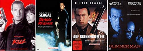 Hard to Kill + Deadly Revenge + Auf brennendem Eis + Glimmer Man [Steven Seagal DVD Set]