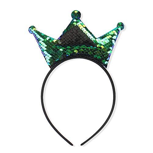 Diademas De Peine Voltear Lentejuelas De Doble Cara Princesa Corona Diadema Tocado...