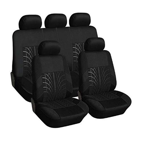 JWGD Cubierta de Asiento de Coche Set Universal Personalidad Pista de neumáticos Empalme de estilismo automático Accesorios Interior (Color : 9pcs Black)