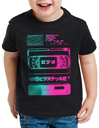 A.N.T. VHS Tape T-Shirt per Bambini e Ragazzi videocassetta VCR Tele showview, Dimensione:164