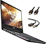 """Asus TUF Gaming Laptop, 15.6"""" IPS Full HD, AMD Quad-Core Ryzen 7 3750H, Nvidia GeForce GTX 1650, RGB Backlit Keyboard, Webcam, BT, Windows 10 + CUE Accessories (8GB DDR4, 256GB SSD)"""