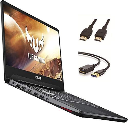 """Asus TUF Gaming Laptop, 15.6"""" IPS Full HD, AMD Quad-Core Ryzen 7 3750H, Nvidia GeForce GTX 1650, RGB Backlit Keyboard, Webcam, BT, Windows 10 + CUE Accessories (16GB DDR4, 512GB SSD)"""
