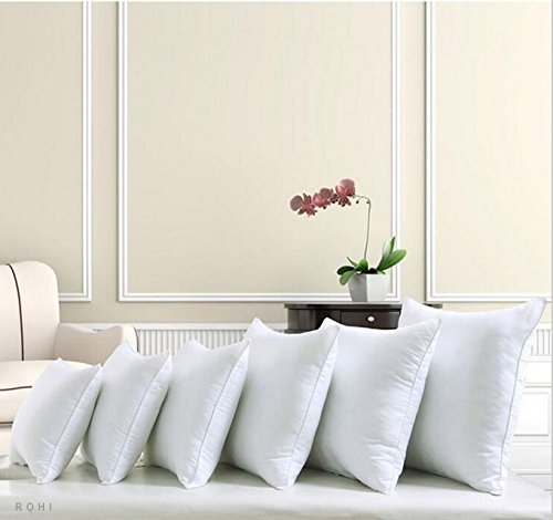 ROHI Square Polyester Cushion Pad Inserts, Filler Inner, Full Range of Sizes, White (Pack of 1, 14' x 14' (35cm x 35cm))