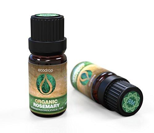 Aceite esencial de romero, con el certificado ecológico COSMOS, 100% puro, grado terapéutico español para aromaterapia, masajes, difusores, con libro electrónico de regalo, 10 ml