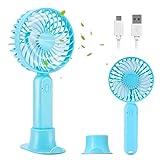 Aitsite Ventilatori USB Mini Ventilatore Palmare USB con 2000mAh USB Mini Fan Ricaricabile Portatile 3 velocità Ventilatore Silenzioso per Casa, Ufficio, Esterno, Campeggio, Viaggi