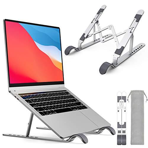 ノートパソコン スタンド PCスタンド改良 折りたたみ式タブレットスタンド人間工学設計 7段高さ・角度調整可能 姿勢改善 アルミ合金 pc スタンド 軽量PC/MacBook/ラップトップ/iPad/Notebooksなどに対応