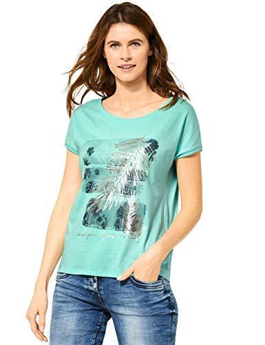 Cecil Damen 314988 T-Shirt, Light Molecule Mint Green, X-Large