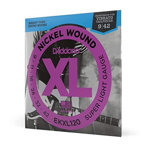 D'Addario EKXL120 - Juego de cuerdas para guitarra eléctrica de níquel, Super...