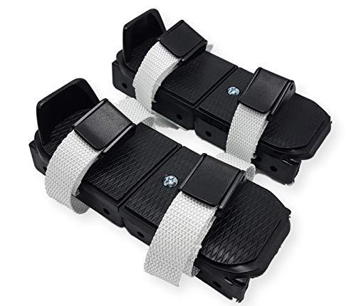 Linwood Bob Skates - Adjustable Strap on Two Runner ice Skates (Black)