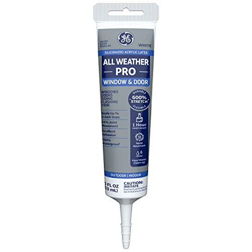 GE Sealants & Adhesives-2709177 Window & Door All Weather Pro - White , 5.5 Ounce