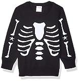Spotted Zebra Pullover Crew Sweaters, Esqueleto, XS