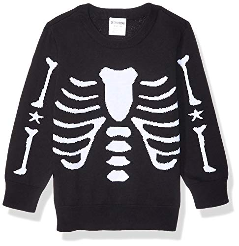 Spotted Zebra Boys' Kids Pullover Crew Sweaters, Skeleton, Small