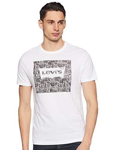 Levi's Men's Printed Regular fit T-Shirt (52655-0042_White 2XL)