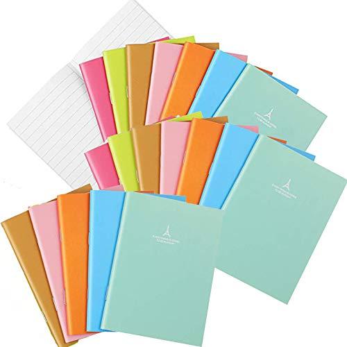 20 Stück Klein Notizbuch, Journal Notizbuch, Candy Notizbuch, Candy Farbe Notepad Schulhefte, Reisetagebuch Tragbares, Papier Notizbuch Schreibwaren Geschenk Büro Schule