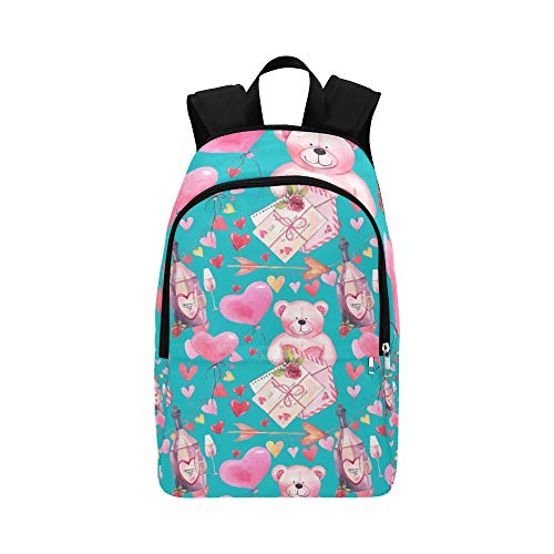 Limiejo Daypack Men Cute Romantic Heart Shaped Balloon Durable Water Resistant Classic Outdoor Daypack School Bag Men P Travel Toiletry Bag Best Backpack