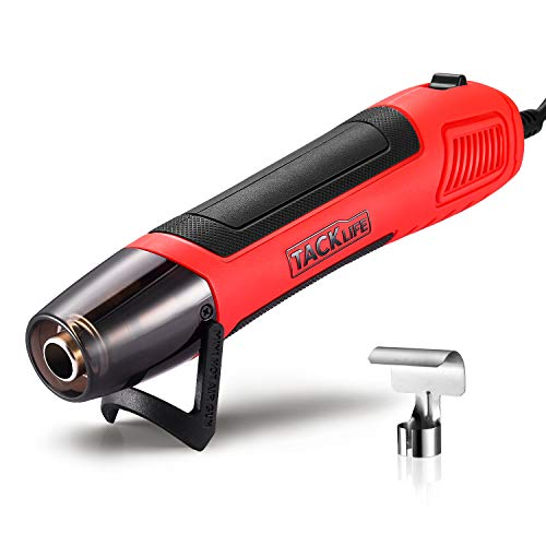 TACKLIFE Heat Gun, 6.56Ft Cable Mini Heat Gun for Epoxy Resin, 350W/662℉ Compact Hot Air Gun with Overheat Protection, Portable Heatgun for Crafts Shrink Wrapping Vinyl Wrap Wire Connectors, HGP35AC