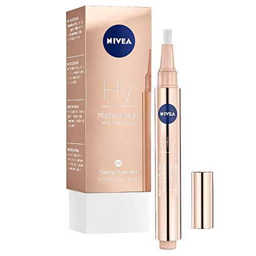 NIVEA PROFESSIONAL Hyaluronsäure Anti-Age Make-Up Concealer, 20C, kühler Hautton, Anti-Aging Concealer mit Pinsel zum einfachen Abdecken und Kaschieren von Augenringen, Falten und Rötungen, 1 x 2,8 ml