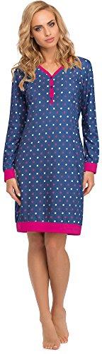 Cornette Damen Nachthemd 654 2015 (Jeans, S)