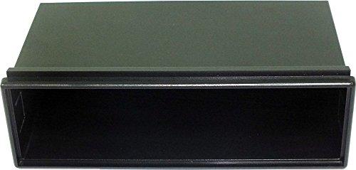 Cassetto portaoggetti universale con bordo superiore per mascherina autoradio con dimensioni ISO