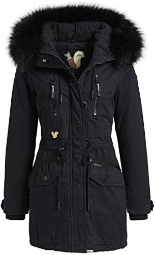 khujo Freja2 1098CO183 Damen Winterjacke, 450 Navy, M