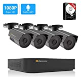[2020 Newest] Jennov HD Home CCTV Security Camera System Outdoor Indoor Wired Night Vision Surveillance Video AHD 1080P Cameras H.264+ 8CH DVR Recorder Kit with Audio, 1TB Hard Drive