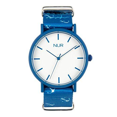 Nursoul Wanderlust - die analoge Uhr Unisex entworfen für Jungen und perfekt für Ihre Tus-Geschenke mit Armband aus Nylon.