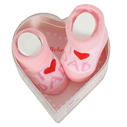 Neugeborene Babysocken 0-3 Monate Baby-Mädchen | Dicke Baumwolle & rutschfeste Griffe | Perfekter Geschenk für Neugeborene Babys & Babyshowers |