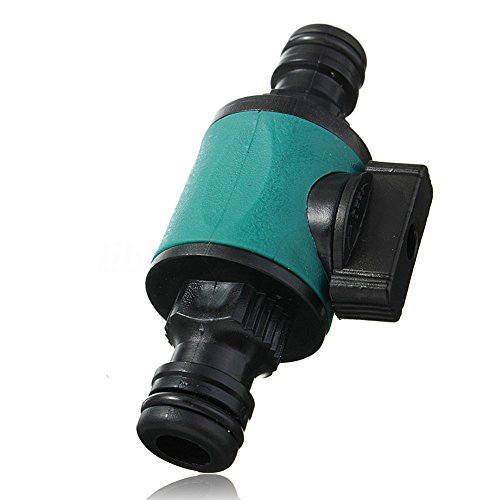 PUAK523 2-Wege-Gartenanschluss-Ventil 1/2 Zoll Gartenschlauch Wasserrohr Verbinder Absperrventile Doppelhahnadapter (grün)