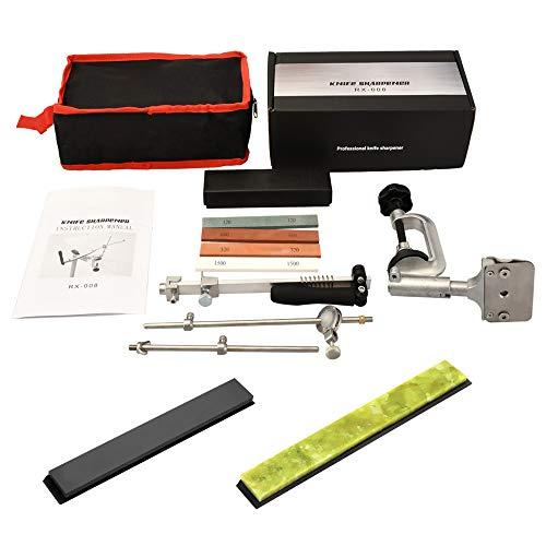SEAAN Afiladores de cuchillos manuales profesionales 6 piedras de afilar, afilador de...