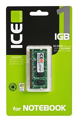 ICEmemory IMRS2800G1 - Memoria RAM para Notebook de 1 GB, SO-DDR2 800/667/533...