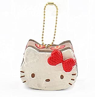 Sanrio Hello Kitty Squishy Lovely Sweets Series Shortcake Ball Chain (Chocolate)