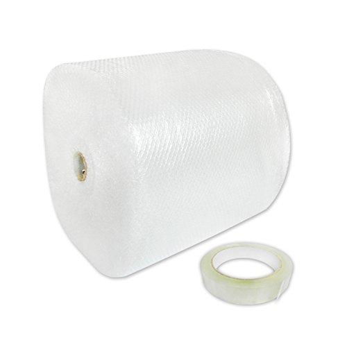 100m Rolle Luftpolsterfolie 50cm breit 2-schichtig 45my stark Bubble-LT und Klebeband 19mm x 66m versando®