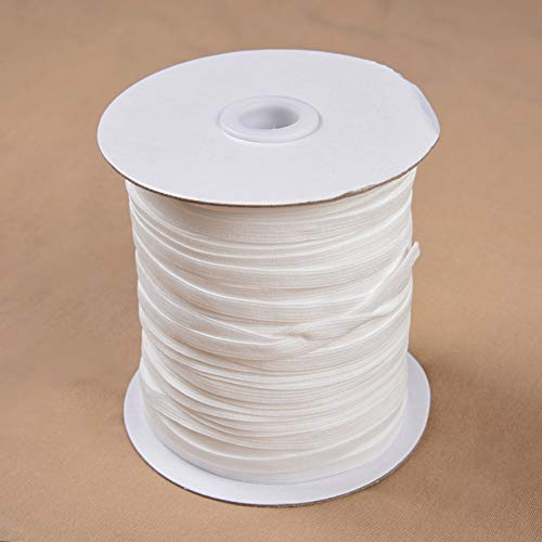 100 Yard Elastic Band Elastic Thread for Sewing White Elastics Cording Cotton Rope 1/4 inch Wide Elastic for Sewing Elastic Straps Elastic Cord Elastic Rope Crafting DIY Mask