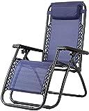 FXBFAG Zero Gravity - Silla de salón para exteriores, cama plegable, tumbona reclinable para exteriores con gravedad cero, reclinable, ajustable, reclinable, color beige (azul)