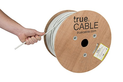 trueCABLE Cat6A Riser (CMR), 1000ft, White, 23AWG 4 Pair Solid Bare Copper, 750MHz, ETL Listed, Unshielded Twisted Pair (UTP), Bulk Ethernet Cable