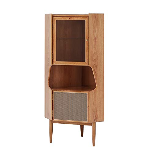 Armario de Aparato de Aparato Aparador de Buffet de Acento de Madera Sirviendo Gabinete de Almacenamiento Entrada de Entrada Sala de Estar Gabinete de Utilidad Moderno (Color : Wood, Size : 140cm)